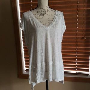 NWT Free People Voyage Draped Tiered T-Shirt Small